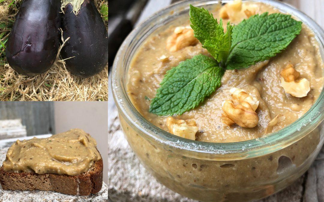 Caviar d'aubergine à la menthe: